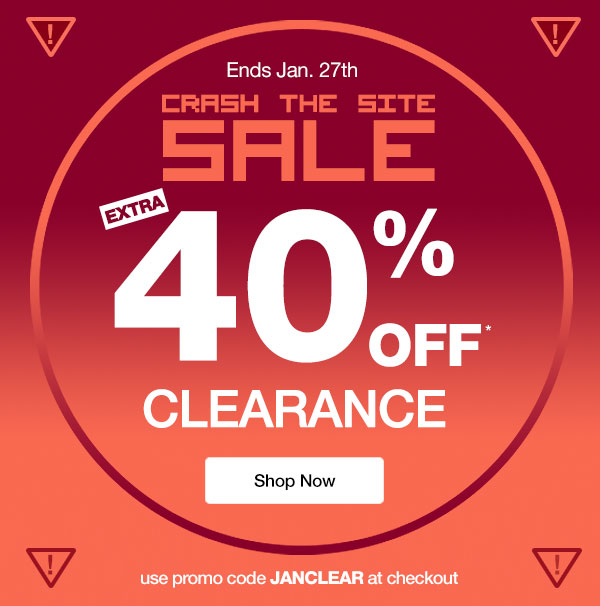40% OFF CLEARANCE!