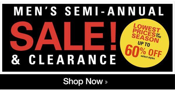 Men's Semi-Annual SALE!