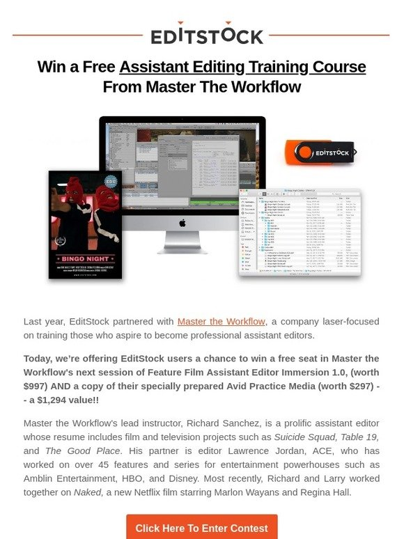 EditStock: Win a Free Assistant Editing Training Course From