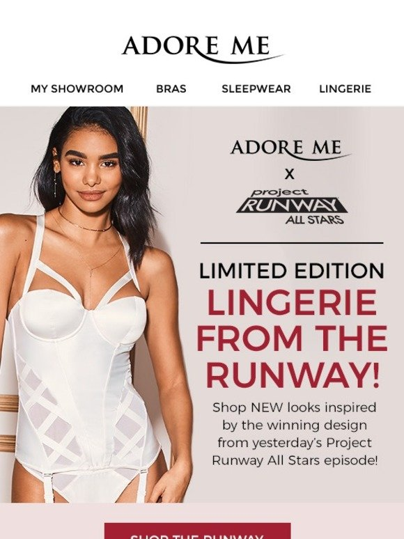 3409e21d5d0 Adore Me  💃✨Shop NEW Limited-Edition Lingerie from PROJECT RUNWAY ...