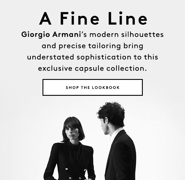 Finely tailored blazers, coats, dresses, and suits from Giorgio Armani, exclusively at Barneys New York.