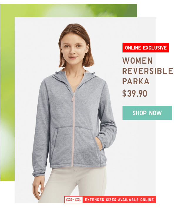 WOMEN REVERISBLE PARKA $39.90 - SHOP NOW