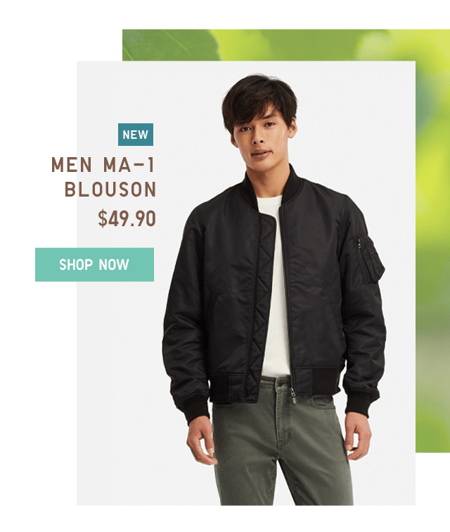 MEN MA-1 BLOUSON $49.90 - SHOP NOW