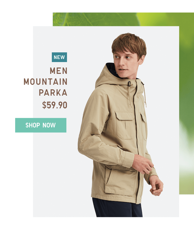 MEN MOUNTAIN PARKA $59.90 - SHOP NOW