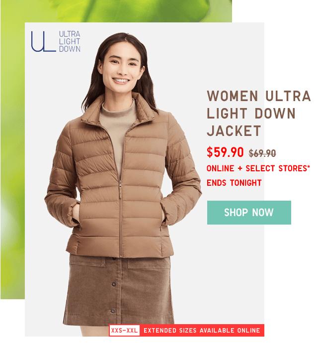 WOMEN ULTRA LIGHT DOWN JACKET $59.90 - SHOP NOW