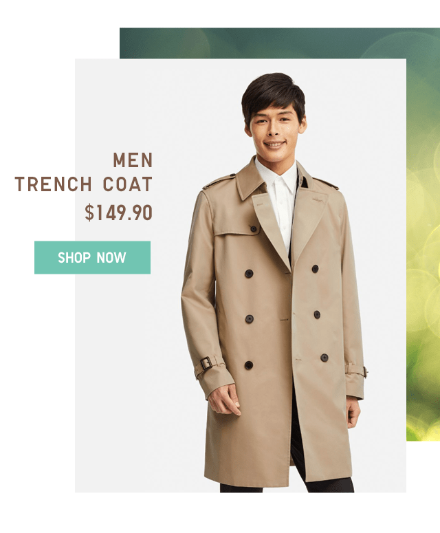 MEN TRENCH COAT $149.90 - SHOP NOW