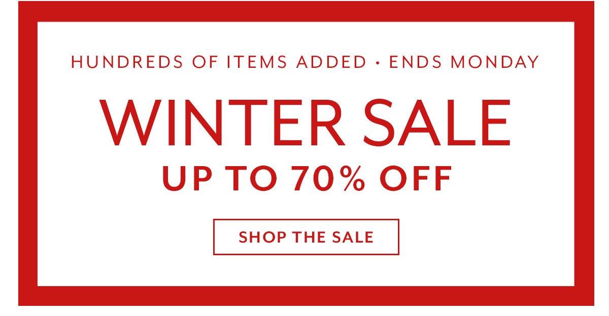 Final Days Winter Sale