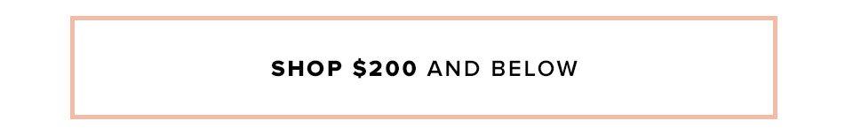 Shop $200 and below