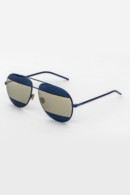 Unisex Aviator Frame Sunglasses in Blue/Gray