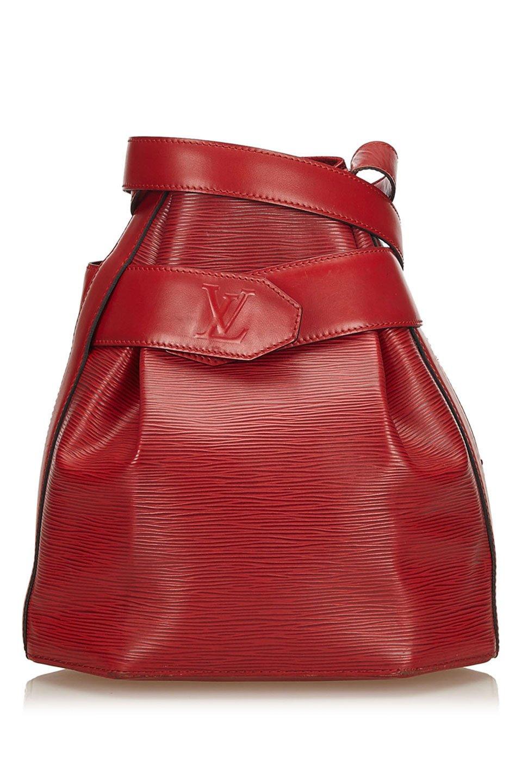 Louis Vuitton Epi Sac dEpaule in Red