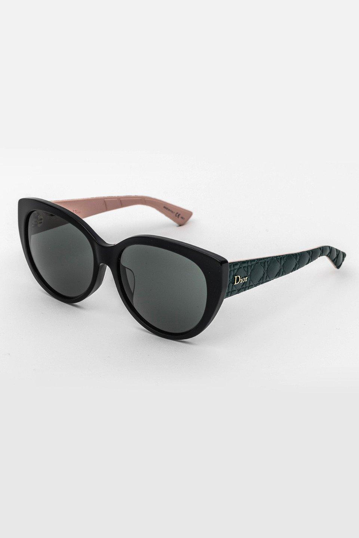 Ladies Cateye Frame Sunglasses in Black, Turquoise/Smoke