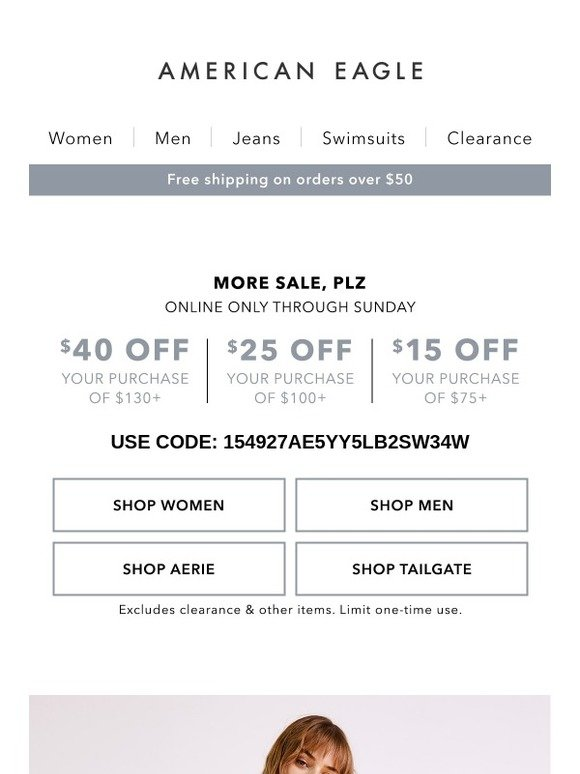 d0bad91f060 American Eagle  For the WIN 🏆 Take up to  40 off your purchase ...