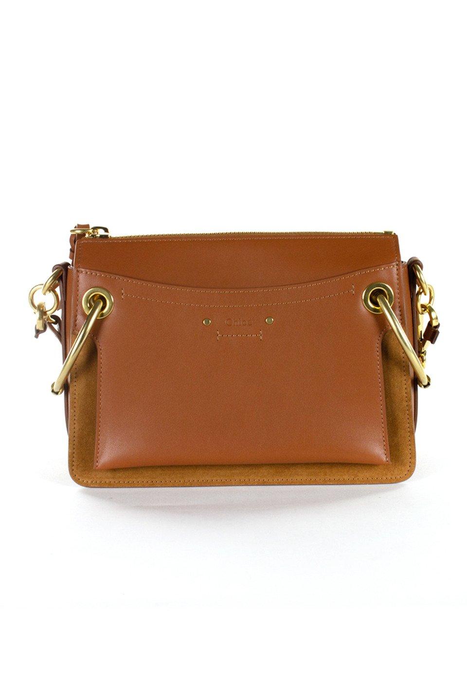 Chloe Leather Handbag in Tan