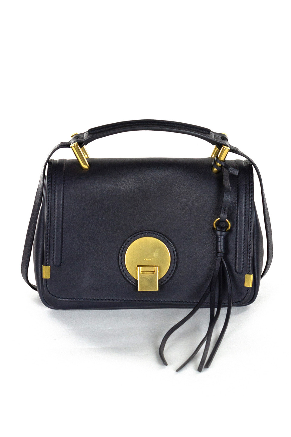 Chloe Leather Handbag in Navy