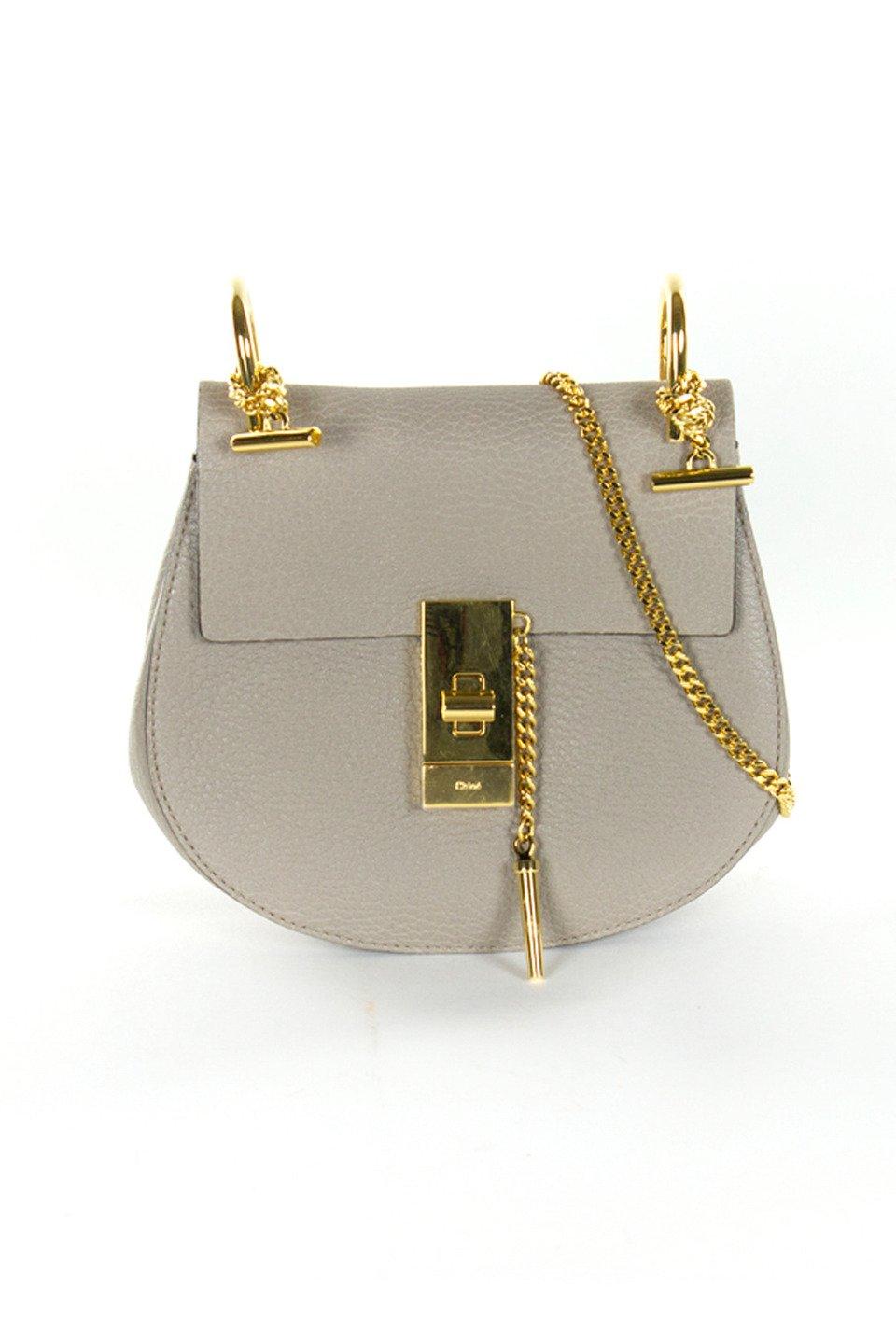 Chloe Leather Handbag in Motty Gray