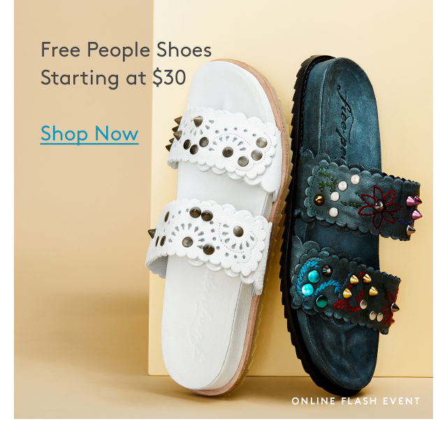 Free People Shoes | Starting at $30 | Shop Now | Online Flash Event