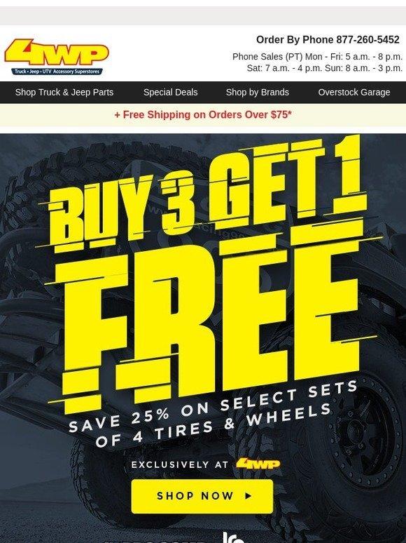 4 wheel parts buy 3 get 1 free