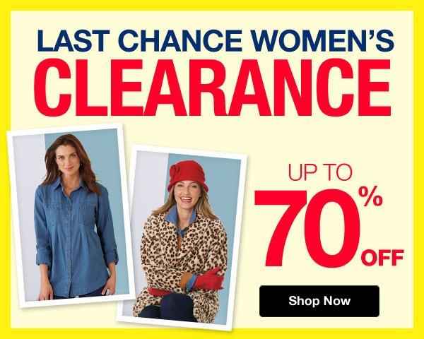 Shop Women's Last Chance Clearance!