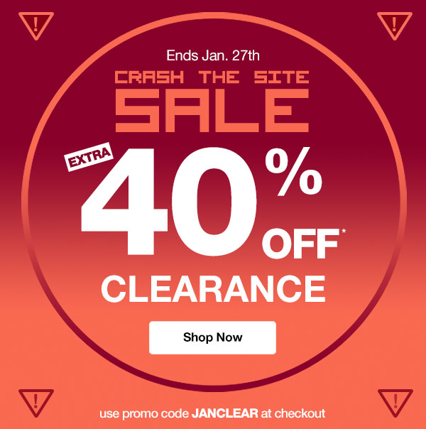 Get an EXTRA 40% OFF Clearance! Use promo code JANCLEAR at checkout.