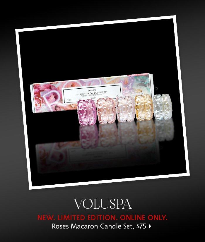 Voluspa Roses Macaron Candle Set