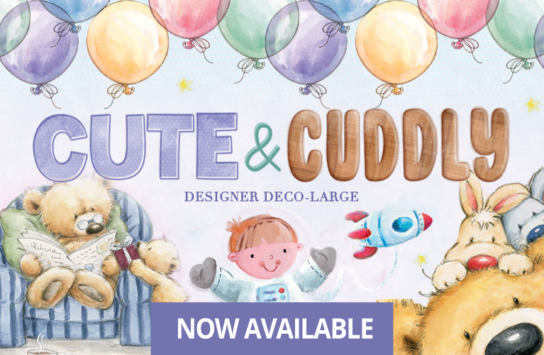 Hunkydory Cute /& Cuddly Designer Deco-Large Collection PLUS Luxury Card Inserts