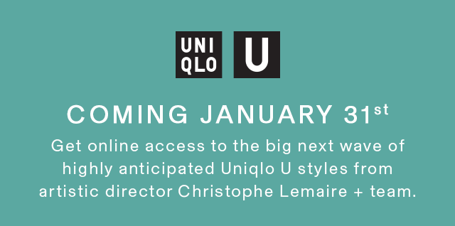 COMING JANURAY 31 - UNIQLO U 2019 SPRING COLLECTION