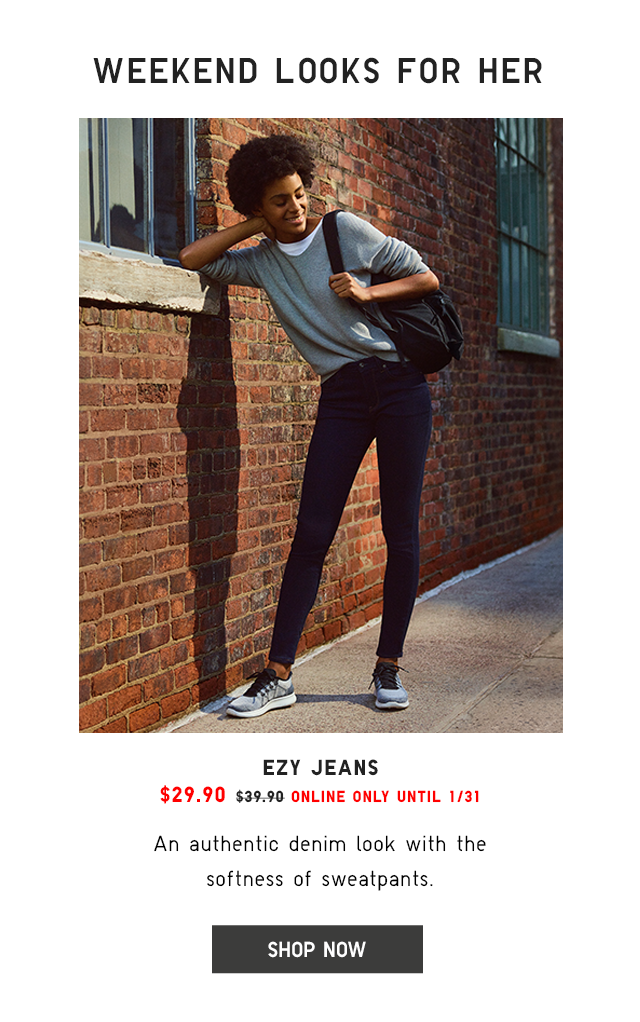 EZY JEANS $29.90 - SHOP NOW
