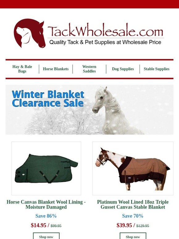 Derby Originals New Zealand Wool Water Repellent Canvas Turnout Blanket