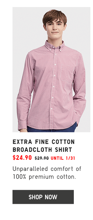 EXTRA FINE COTTON BROADCLOTH SHIRT 424.90 - SHOP NOW