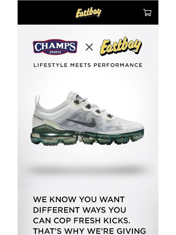 finest selection fe0dd 46114 Eastbay: Eastbay collabed with Champs to bring you the new ...
