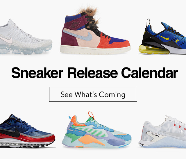 Sneaker release calendar.