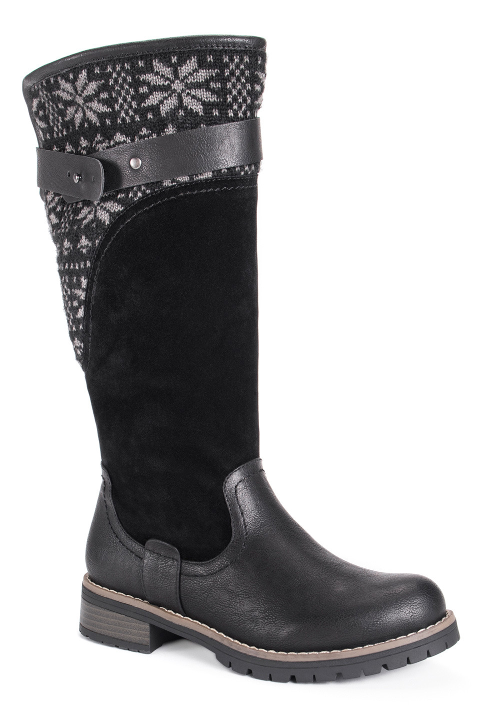 Women's Kamy Boots in Black and Gray