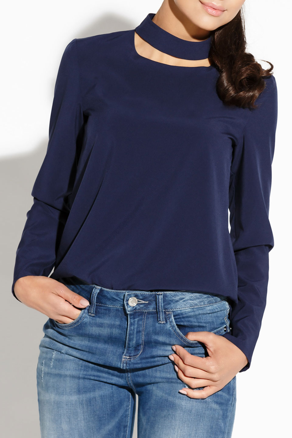 Sitivi Blouse in Navy