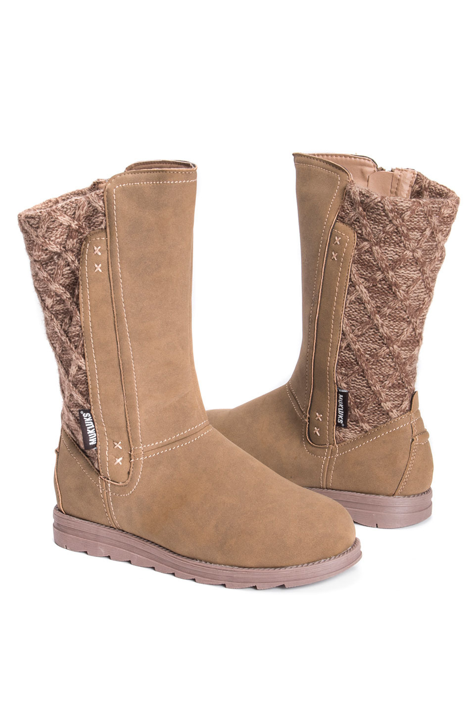 Women's Stacy Boots in Taupe