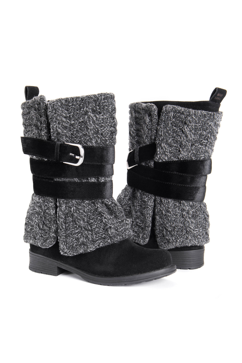 Women's Bessie Boots in Black Cable
