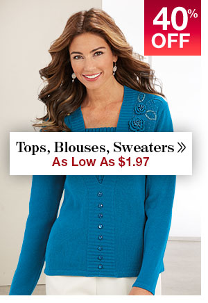Shop Women's Clearance Tops!