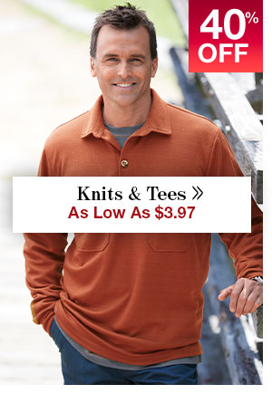 Shop Men's Clearance Knits!