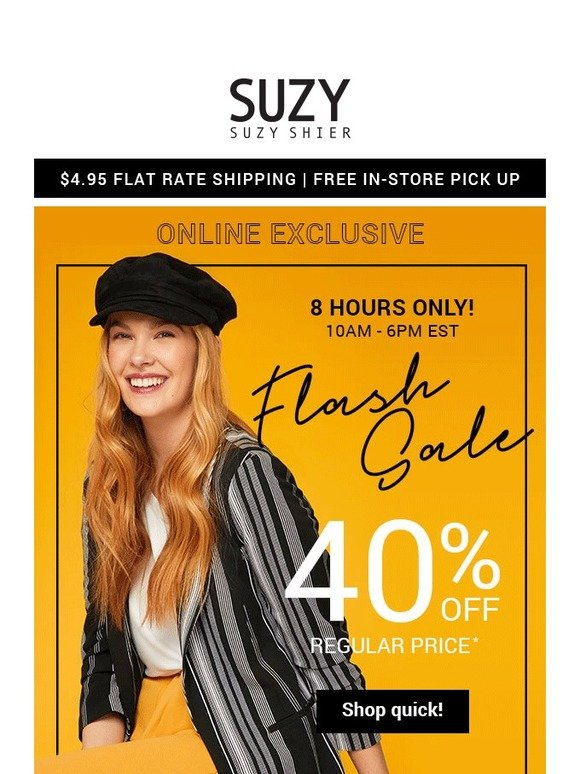 264898fb677a6 Suzy Shier  💫Gone in a FLASH! 40% OFF online ends soon