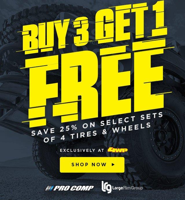 Buy 3 Get 1 Free Tires >> 4 Wheel Parts Buy 3 Get 1 Free On Select Tires Wheels