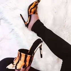 5a8afb58f0a Shoespie Trendy Slip-On Flip Flop Stiletto Heel Mules