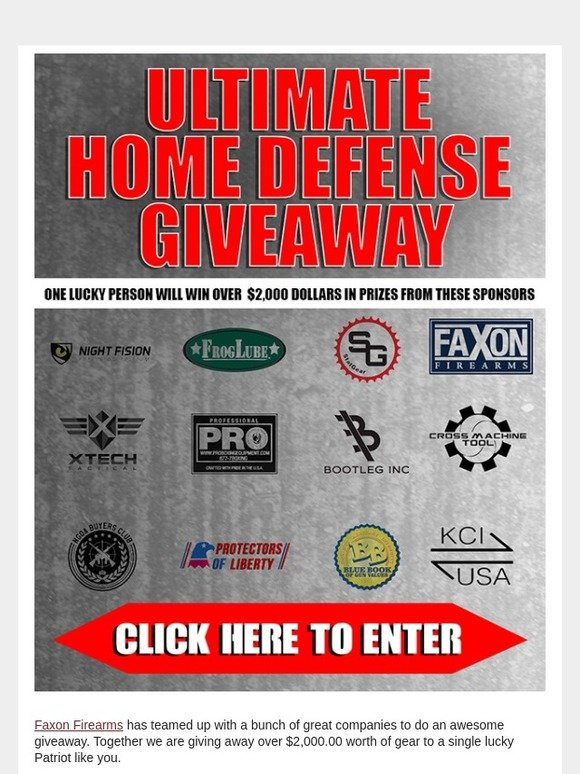 Faxon Firearms: Ultimate Home Defense Giveaway - Enter Now