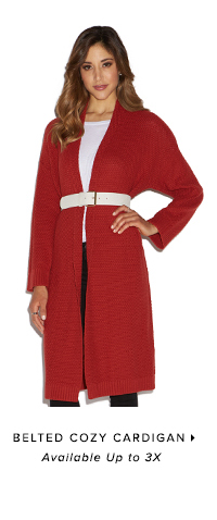 BELTED COZY CARDIGAN