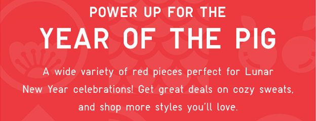 RED PIECES PERFECT FOR THE LUNAR NEW YEAR!