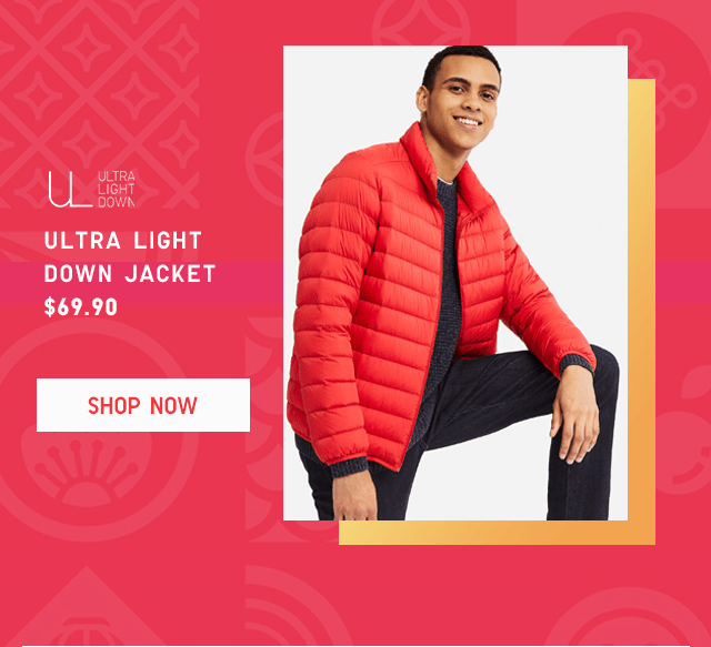 ULTRA LIGHT DOWN JACKET $69.90 - SHOP NOW