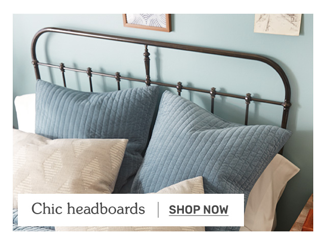 Shop chic headboards.