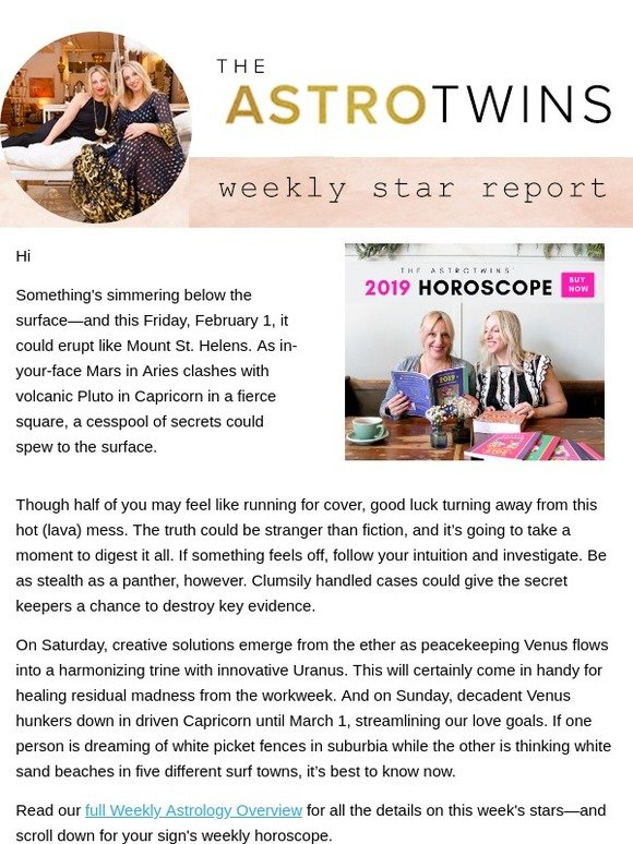 The AstroTwins: ⭐ Weekly Horoscope: Secrets Revealed? | Milled