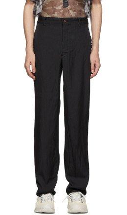 Comme des Garçons Homme Plus - Black Jacquard Stripe Trousers