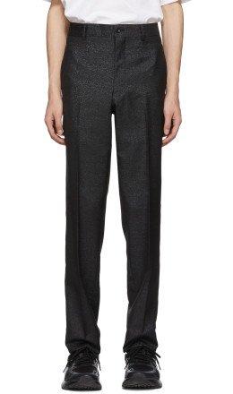 Comme des Garçons Homme Plus - Black & Blue Lamé Trousers