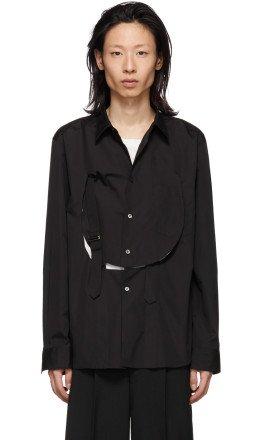 Comme des Garçons Homme Plus - Black Cotton Bib Shirt