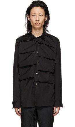 Comme des Garçons Homme Plus - Black Cotton Layered Shirt